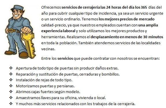 Cerrajeros La Garriga 24 horas urgencias