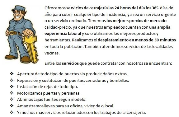 Cerrajeros Mataró 24h urgencias